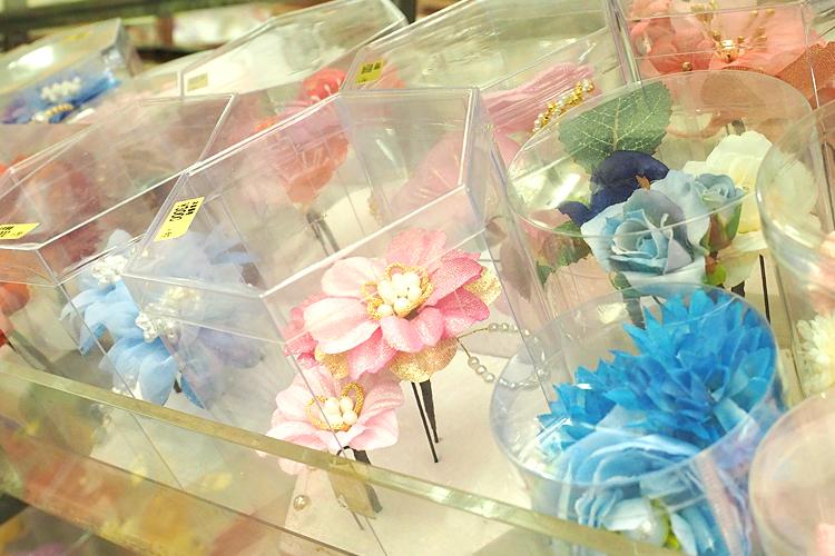 髪飾り(青)